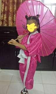 Japanese costume UN pink for girls