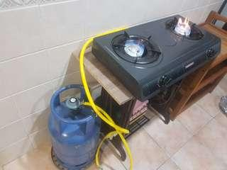 gas bottle and cooker stove complete set