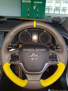 Hyundai customised steering wheel wrapping and upholstery by Wheelskinz