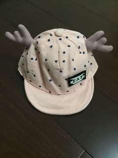 🚚 [二手]寶寶帽 造型帽 麋鹿寶寶帽 高質感造型帽 一歲~兩歲適戴 粉色系兒童帽