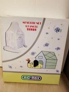 嬰兒床防蚊網連架