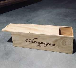 Champagne Wooden Crate