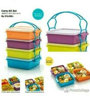 carry all set  4 tingkat - Tupperware