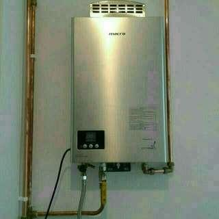 HOT & COLD PIPING SYSTEM FROM CITY GAS HEATER(PLUMBER,KITCHEN SINK,TOILET BASIN,TOILET CHOKE,PLUMBING)