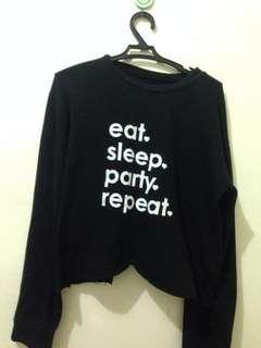 Black Pullover w/ Print