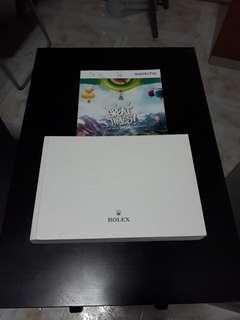 Rolex catalog plus swatch catalog