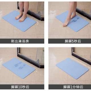 矽藻泥防水吸水墊浴室防滑地墊衛生間珪藻地墊矽藻土吸水腳墊防潮除濕除臭