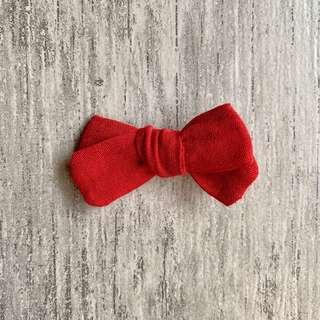 Scarlett // Midsize knotted bow | Linen blend| Girl hair clip | Handmade