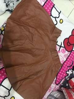 Flare skirt coklat