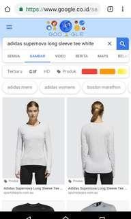 Adidas supernova long sleeve tee white