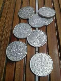 Uang Kuno 25 Sen 1952 Asli