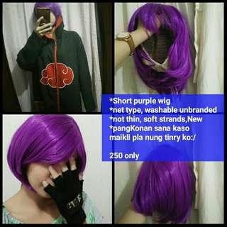 Purple / violet short wig