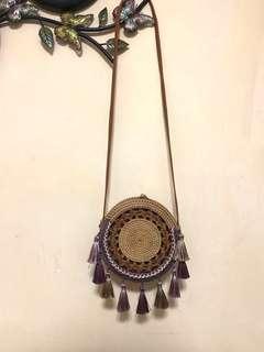 🚚 Rattan Bag with Tassels