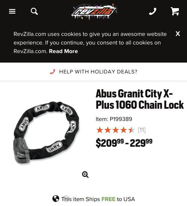 Abus Granit City Chain X-Plus high security chain lock