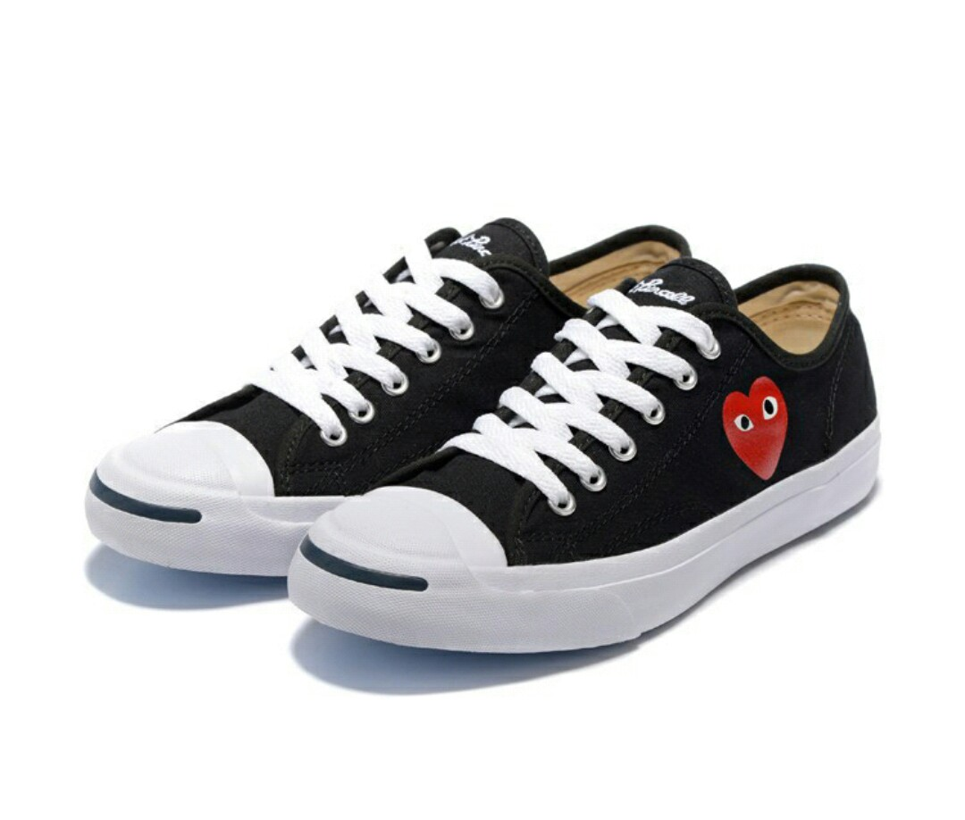 7ed4b705997 ✨Authentic Converse Unisex Jack Purcell ltt low top love Canvas shoes black
