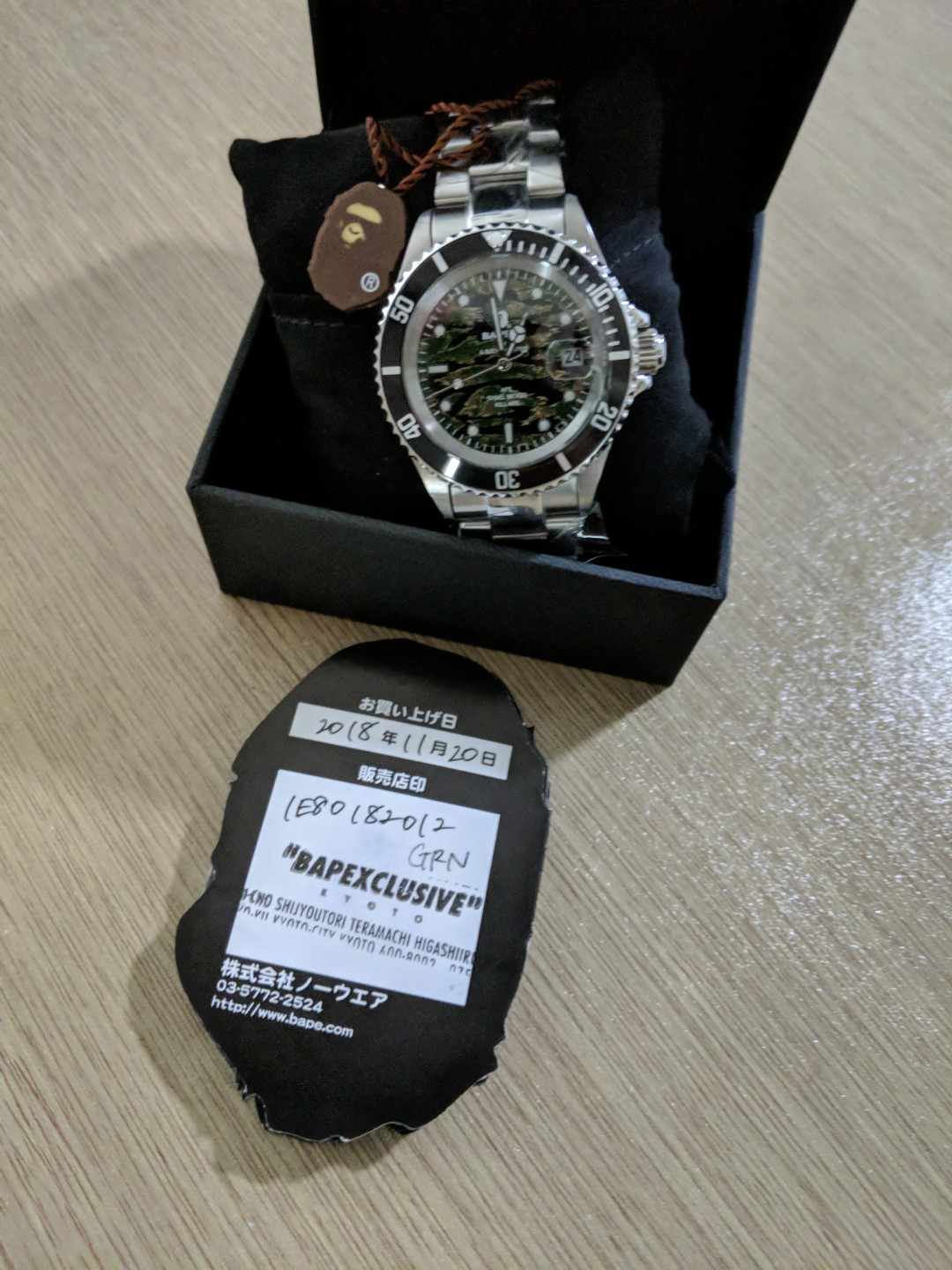 No Trade Price Firm Bape Bapex Watch Rolex Bape Head Camo Luxury
