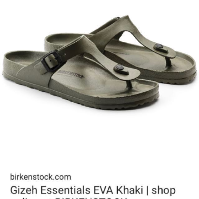 78a031e2bbd1 Birkenstock Gizeh Eva khaki sandals size 38. Brand new