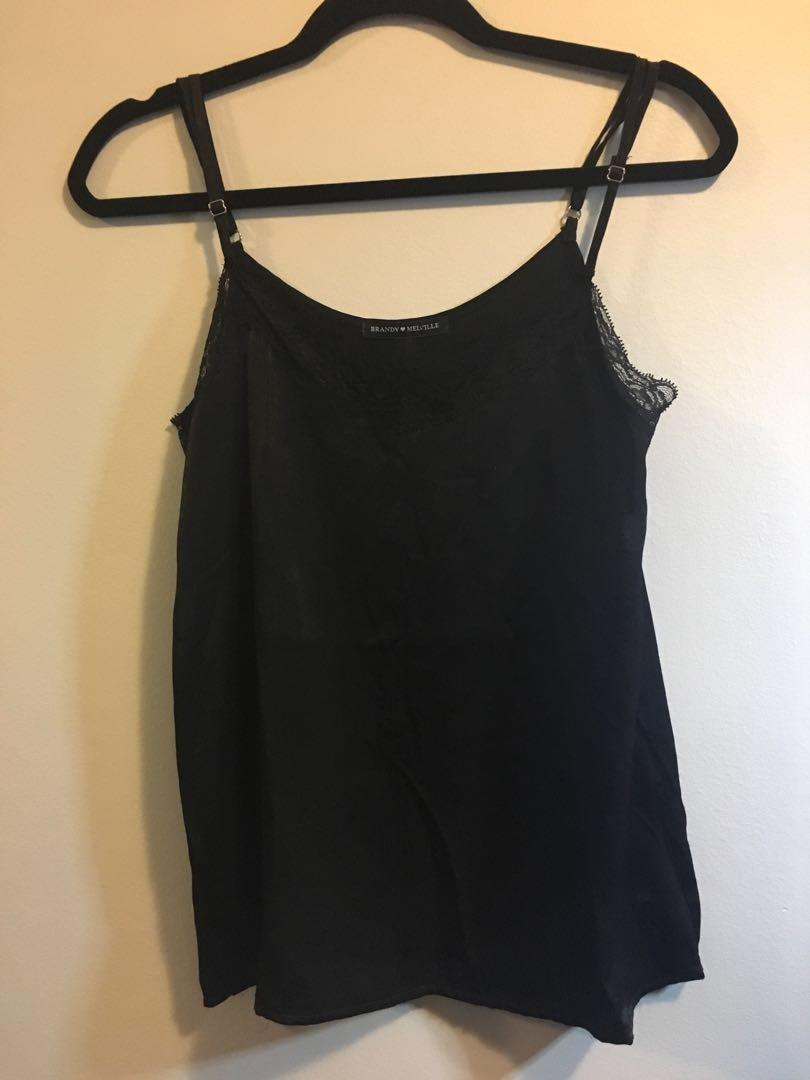 Black Lace Brandy Melville Tank Top