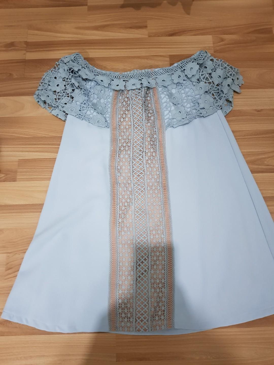 BNWOT LOVE AND BRAVERY LACE OFF SHOULDER DRESS SIZE XL