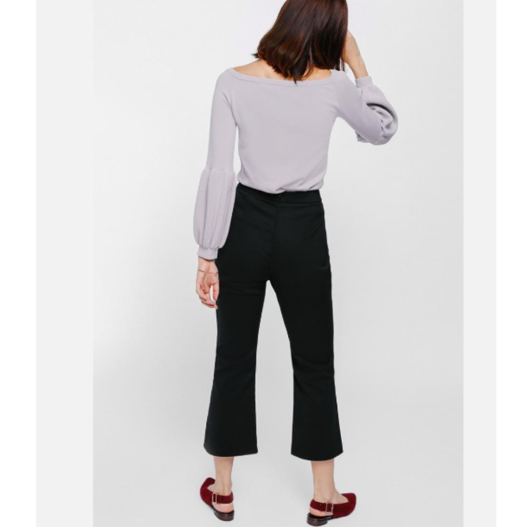 (BNWT XS) Love Bonito Fiolyn Slit Cropped Flare Pants