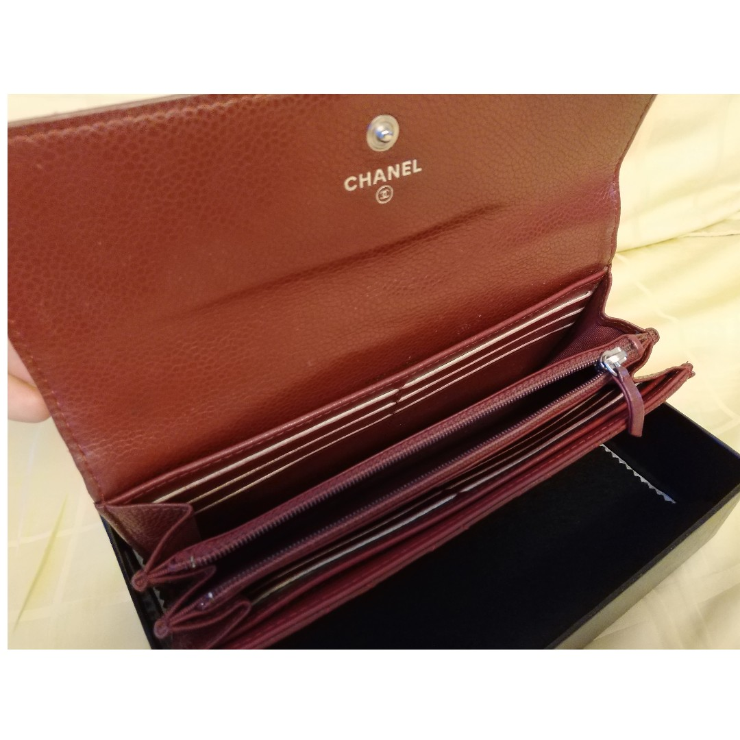 924fa426aa5d CHANEL Matelasse Bifold A50096 Long wallet Caviar Leather Red, Women's  Fashion, Bags & Wallets, Wallets on Carousell