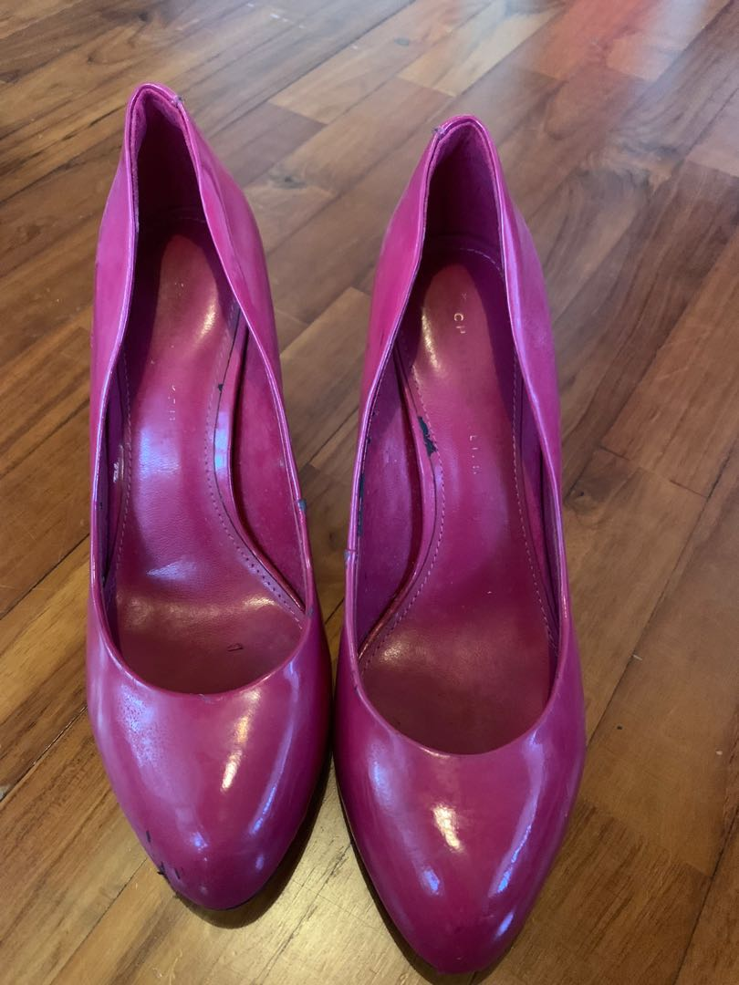 4d31b4a4394 Charles & Keith hot pink heels shoes