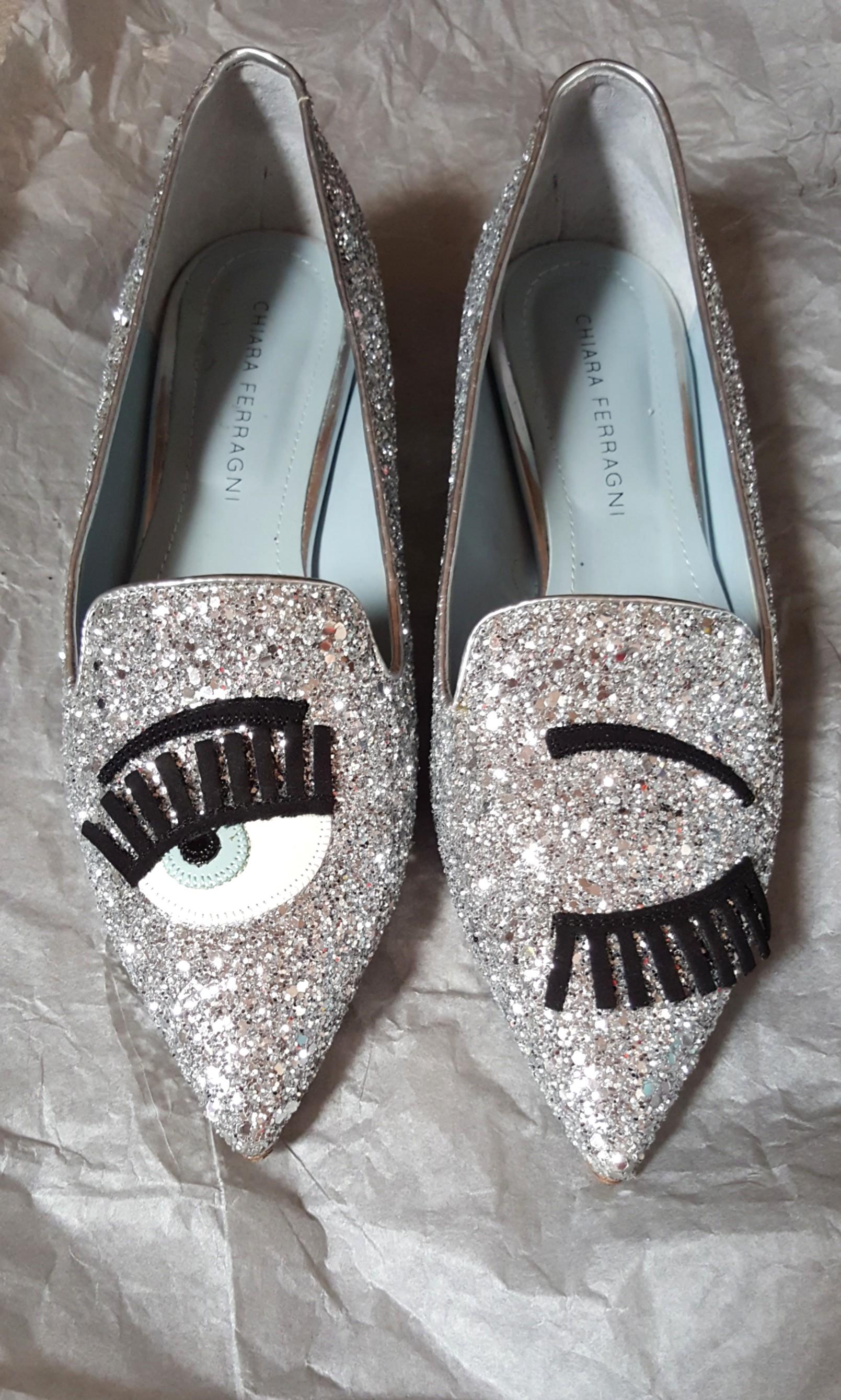 be7130fba Chiara Ferragni Flirting Glitter Shoes, Luxury, Shoes on Carousell