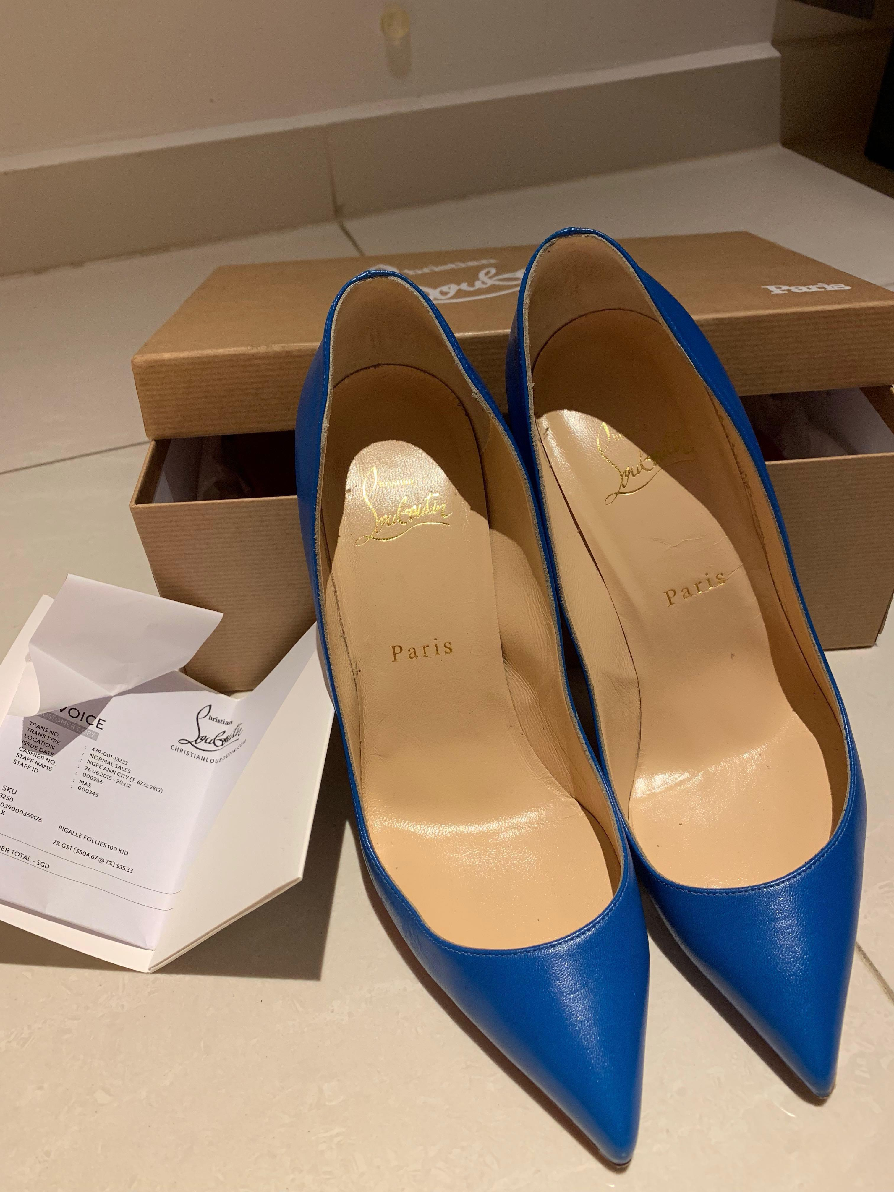 pas mal e3c10 64126 Christian Louboutin Blue Pigalle heels size 38.5, Luxury ...