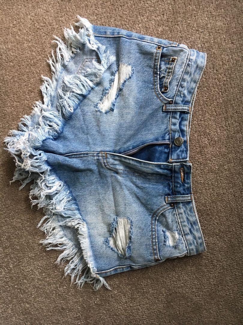 Glassons denim shorts size 8