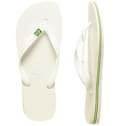 b134c53c6 BNIB Havaianas Brasil White Slippers BR43 44