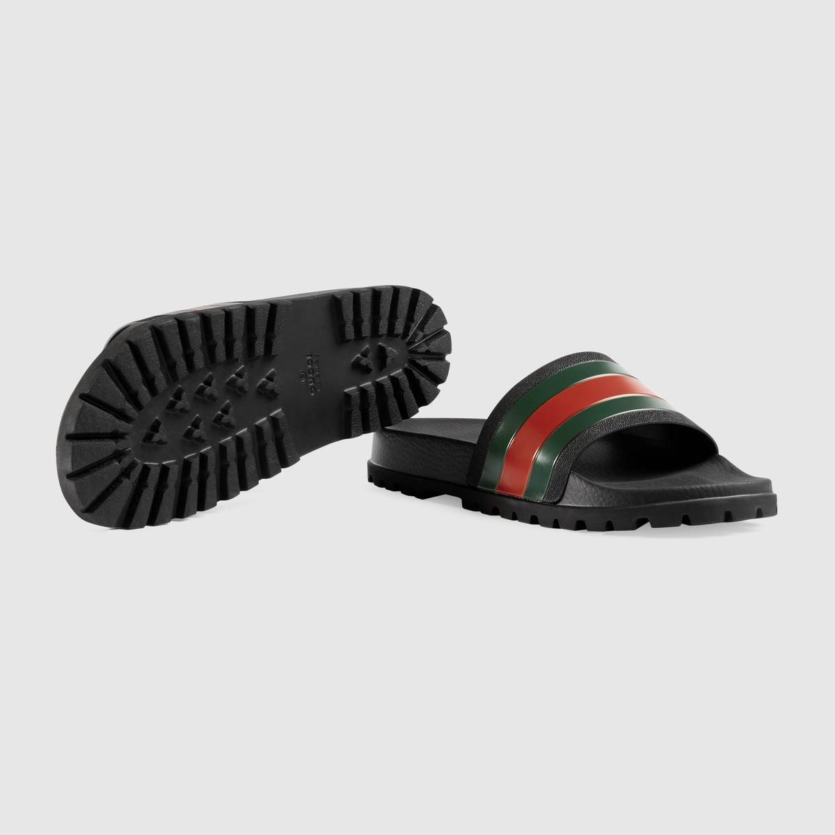 6f68d8e99 Men's Black Ru& Red Web slide sandal, Men's Fashion, Footwear ...