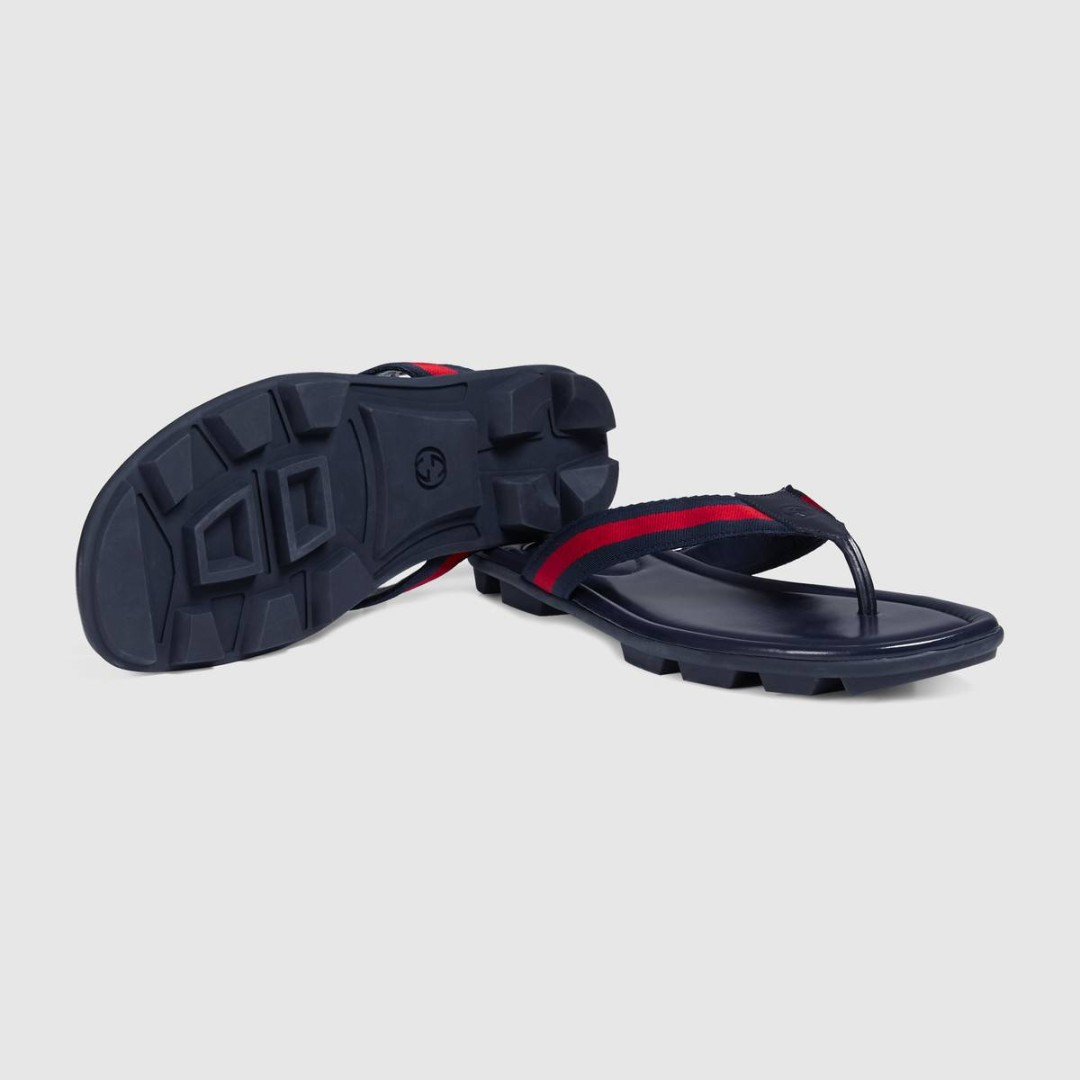 987b18223882 Men s Blue   Red Web and leather thong sandal