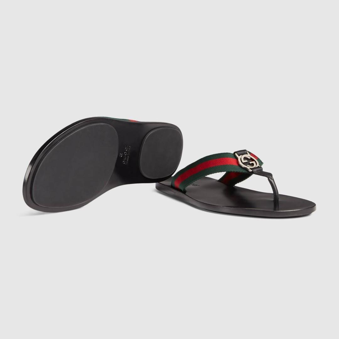 b1f0d60d9cdc Men s Green   Red Web strap thong sandal