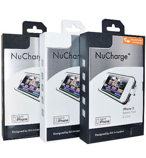 new arrivals 0ffc2 506c6 Nucharge iPhone 5 battery pack & case