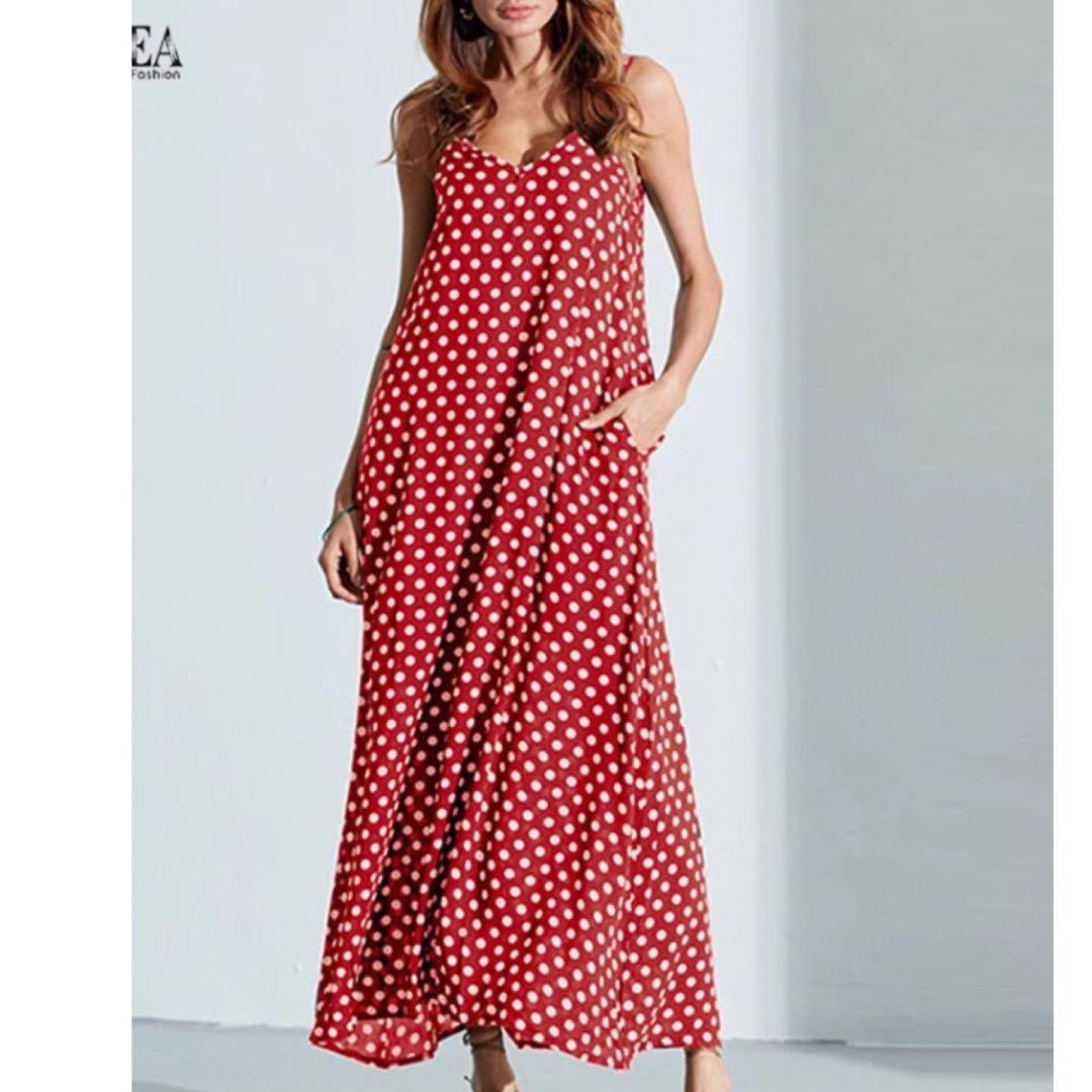 PO) S-6XL 6XL Plus Size Summer Dress 2018 ZANZEA Women Polka Dot ... a4ab97215b92