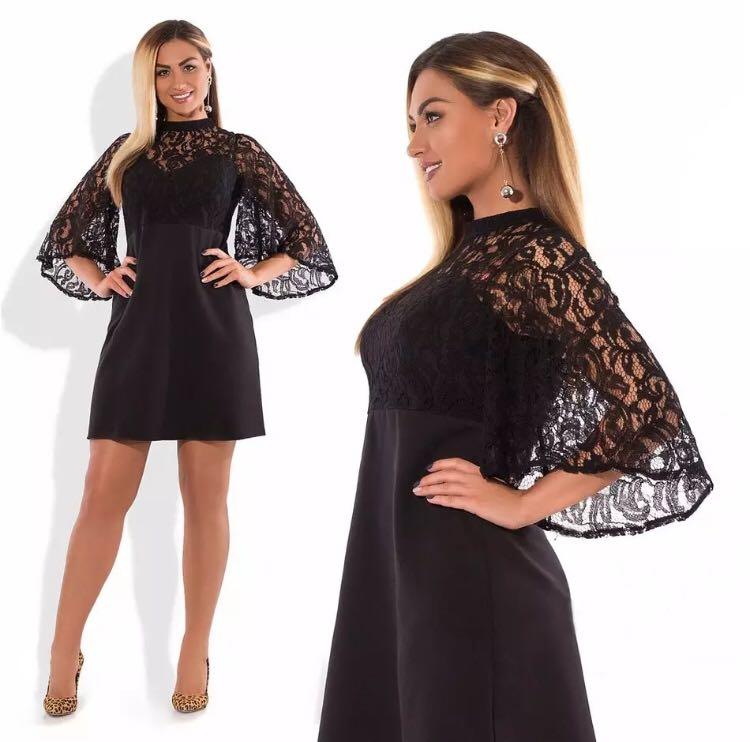 c028fd95a869f PO) XL-6XL Autumn Plus Size Dress Christmas Mini Winter Dress Sexy ...