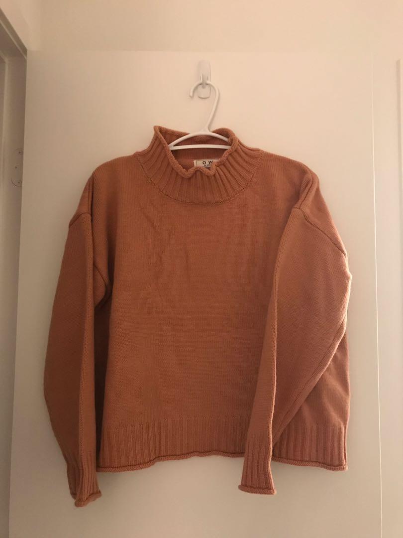 Salmon sweater