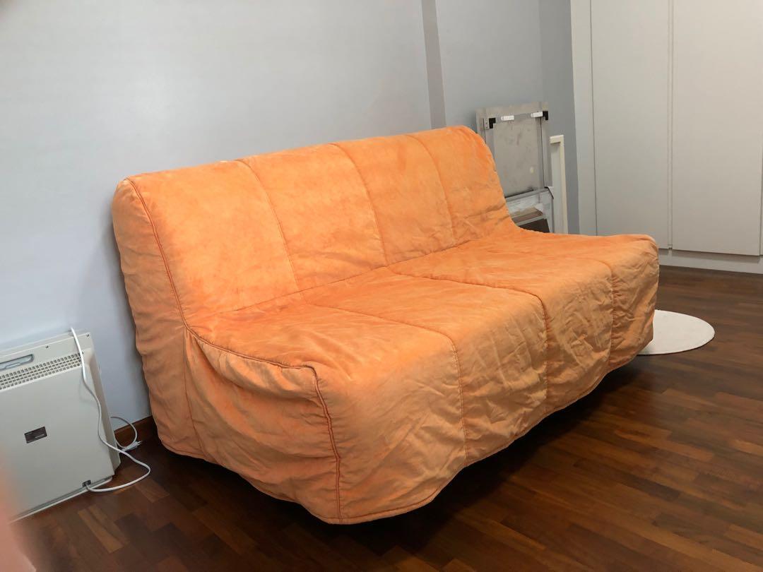 Sofa cover for Ikea Lycksele sofa (orange), Furniture, Sofas on ...