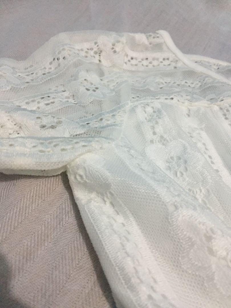 Tilled White Dress