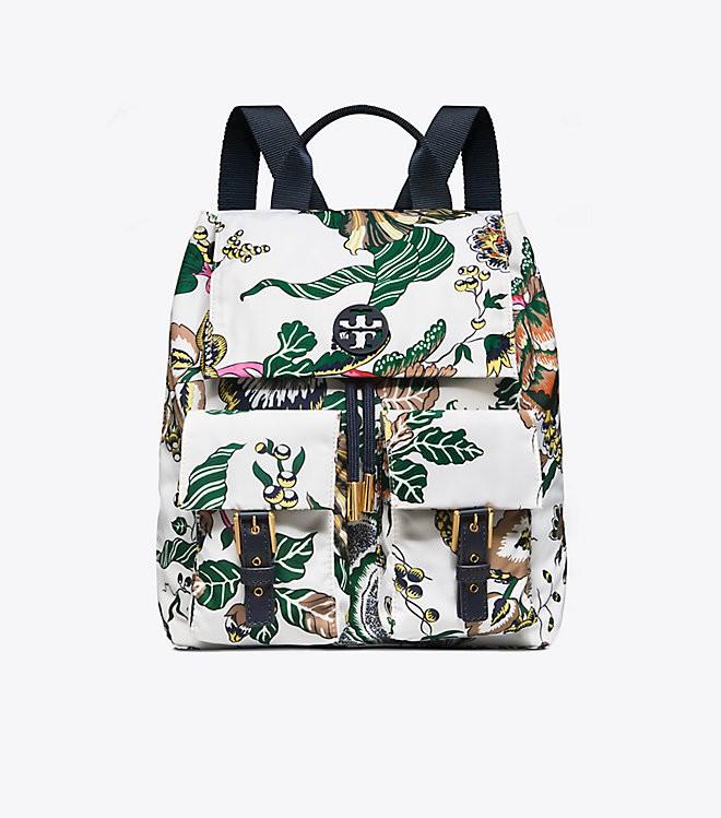 58714543a2a Tory Burch Tilda Nylon Flap Backpack
