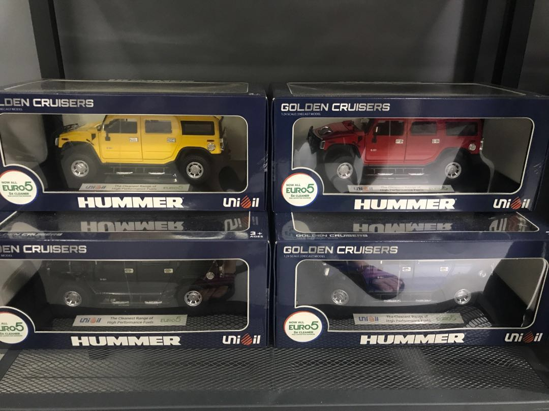 Unioil Hummer Golden Cruisers Die Cast Set Of 4 Toys Games Toys