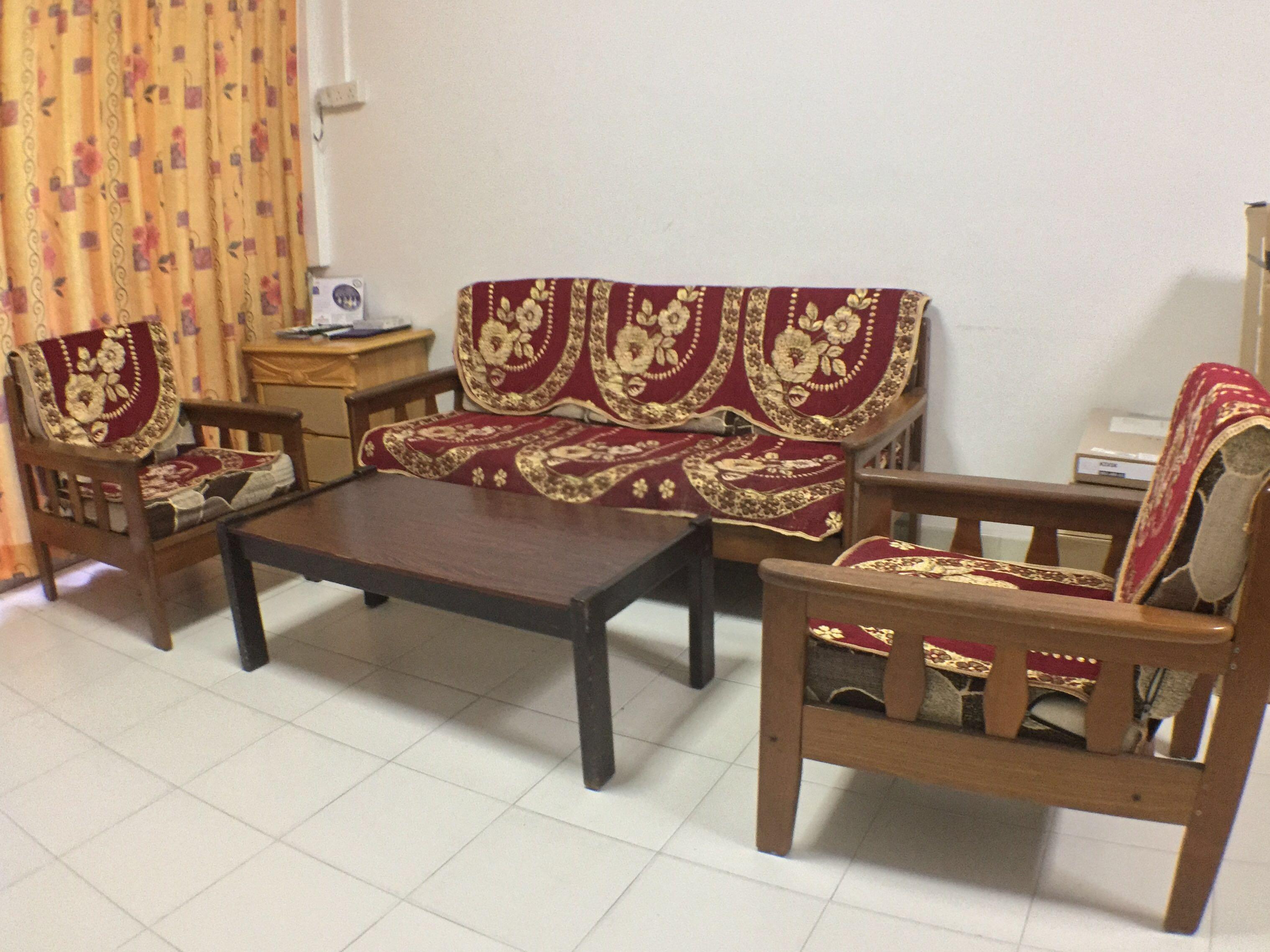 Vintage Wooden Sofa Set Furniture Sofas On Carousell