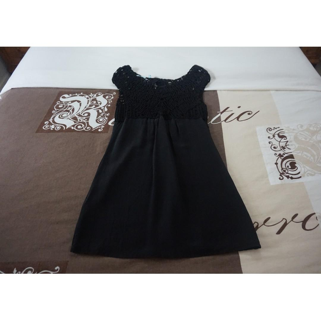 Wish Silk Black Shift Dress w/ Woven Feature Size 8 RRP $169.95