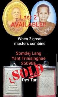 🌟🌟LAST 2 AVAILABLE 🌟🌟LuangPuu Toh+LP Pae  Somdej lang Yant Trinisinghae BE 2509