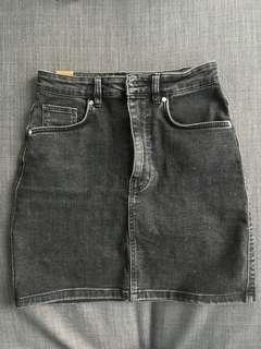 Black Zara denim skirt