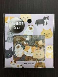 日本 貓貓貼紙 80枚組