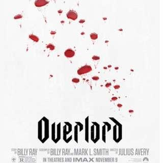 "A pair of complimentary passes for ""Overlord"" movie"