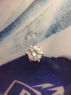 💓✨ Pt900 鉑金 天然鑽石耳釘一隻✨💓