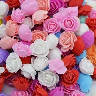 🚚 50pcs 3.5cm Mini PE Foam Roses Multi-use Artificial Flower