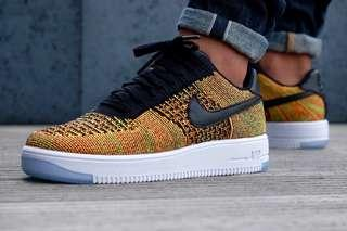 huge selection of 1fdb5 6b131 Nike Air Force 1 Low Flyknit - Multi color Orange